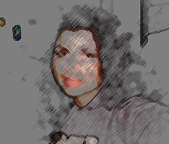 Art: self portrait by Artist Nata Romeo ArtistaDonna