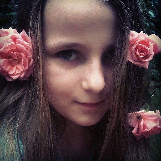 Art: Rose-Lipped Maiden by Artist Amie R Gillingham