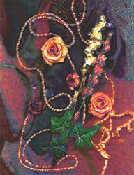 Art: Grandmother's roses by Artist Carolyn Schiffhouer