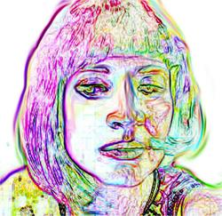 Art: me pink psyco by Artist Noelle Hunt
