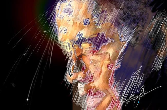 Art: Obama the Edge of Glory by Artist Alma Lee