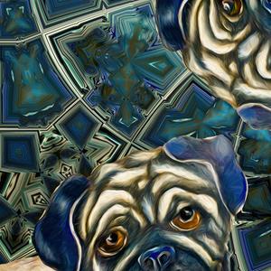 Detail Image for art Space Pugs:Adrift in Bliss