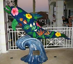Art: Paradise Porpoise by Artist Ulrike 'Ricky' Martin
