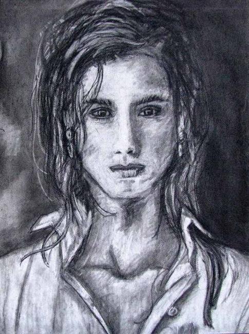 Art: Face by Artist Karina Keri-Matuszak