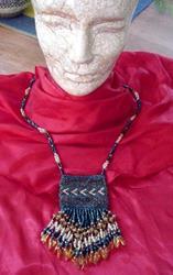 Art: Amulet Bag Necklace by Artist Lelo Colclough