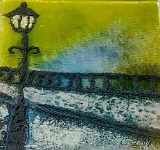 Art: prefired street lamp by Artist Drita Harris