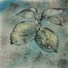 Art: Pair of Lemons by Artist Drita Harris