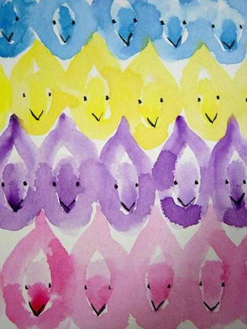 Art: Peeps by Artist Tracey Allyn Greene