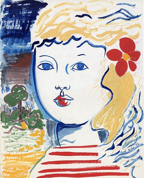 Art: Little Blonde by Artist Muriel Areno