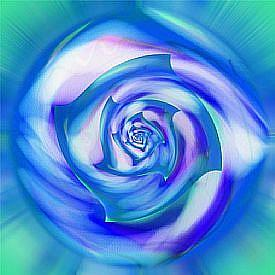 Detail Image for art Oriental Blue Rose