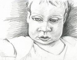 Art: My sweet baby Grier by Artist Noelle Hunt