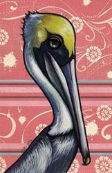 Art: Pelican Portrait by Artist Cary Dunlap Daly