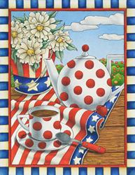 Art: Star Spangled Tea by Artist Shelly Bedsaul