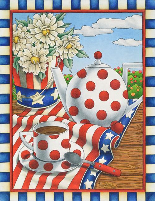 Art: Star Spangled Tea by Artist Shelly Bedsaul