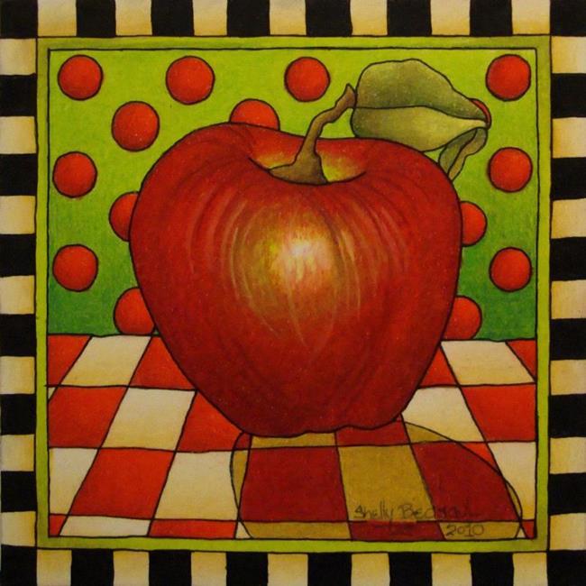 Art: Be Bop A Lula Apple by Artist Shelly Bedsaul