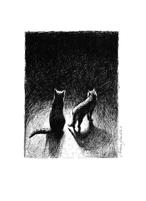 Art: Nightly Cats II by Artist Milena Gawlik