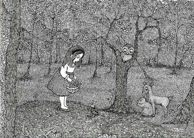 Art: Bella's Forest Adventure by Artist Nata ArtistaDonna