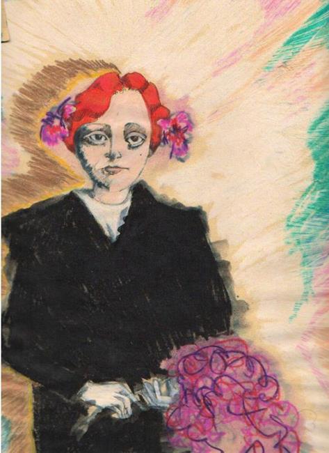 Art: Red Hair by Artist Noelle Hunt