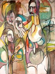 Art: Deliberation Amongst Elders by Artist Alexis Covato