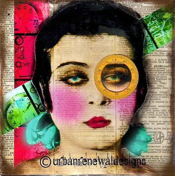 Art: ICU 8 x 8 by Artist Dawn Williams