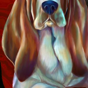 Detail Image for art Bennie Bassett Hound