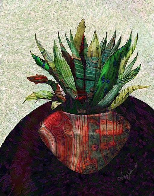 Art: Fractal Botanical by Artist Alma Lee