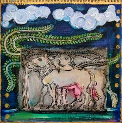 Art: cattle [SOLD] by Artist Angie Reed Garner