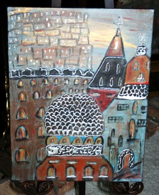 Art: JERUSALEM-sold by Artist LUIZA VIZOLI