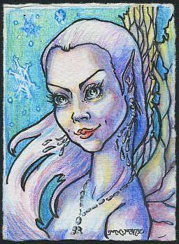 Art: ATC - Fairy #2 by Artist Madeline  Carol Matz