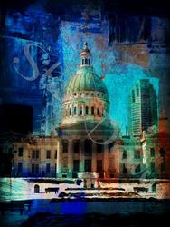 Art: St.Louis Jefferson National by Artist Staci Dawn