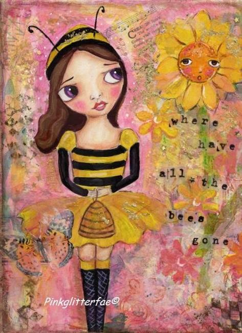 Art: Bee Girl by Artist Betty Stoumbos
