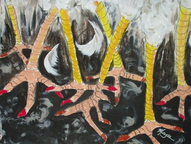 Art: Chicken Scratch by Artist Gail Meyer