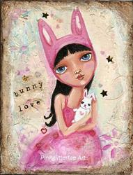 Art: Bunny Love by Artist Betty Stoumbos