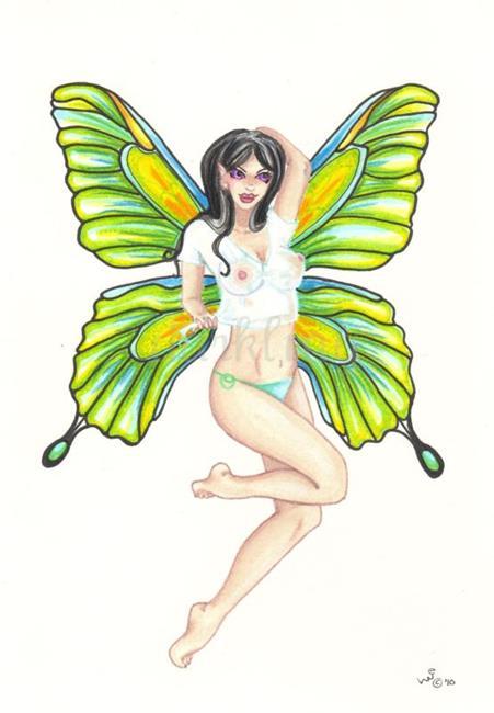 Art: Wet T Shirt Fairy by Artist Emily J White