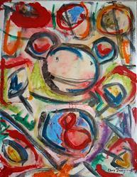 Art: Monkey Number 8 by Artist Chris Jeanguenat