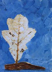 Art: Blue Leaf by Artist Windi Rosson