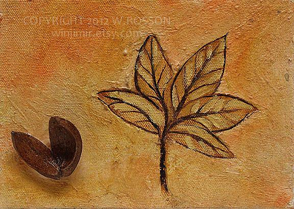 Art: Shell & Leaf by Artist Windi Rosson
