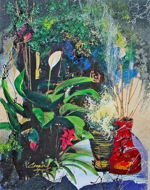 Art: Potted Plants by Artist Dottie Cooper Katz