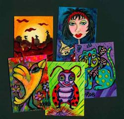 Art: Colorful Art from the imagination of Ke ROBinson by Artist Ke Robinson