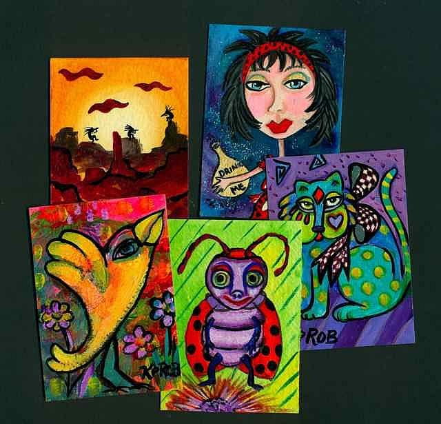 Art: Colorful Art from the imagination of Ke ROBinson by Artist Ke Robinson