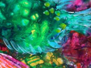 Detail Image for art Hide n Seek Coral Fish SOLD