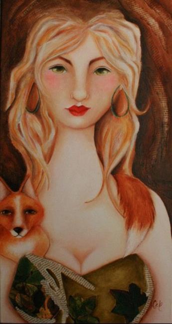 Art: Friendly Fur Stole by Artist Deb Harvey