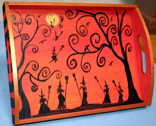 art halloween tray sold by artist luiza vizoli