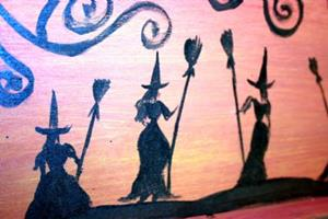Detail Image for art HALLOWEEN TRAY-SOLD