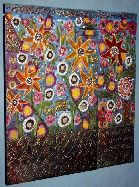 Art: IN MY BEAUTIFUL GARDEN-sold by Artist LUIZA VIZOLI