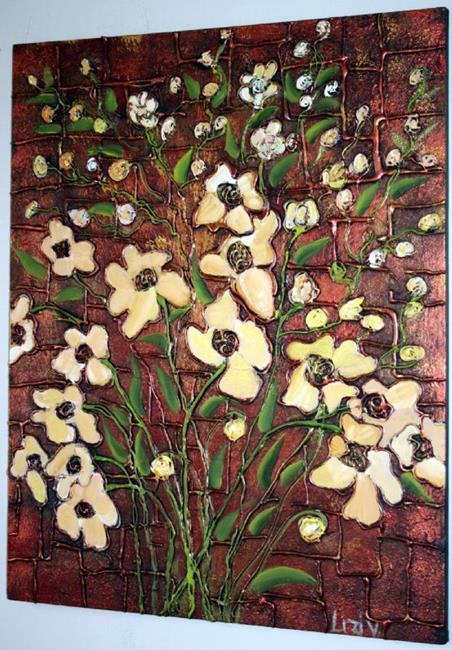 Art: DELICATE FLOWERS-SOLD by Artist LUIZA VIZOLI