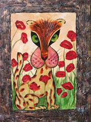 Art: Edwin Loves Poppies by Artist Ke Robinson