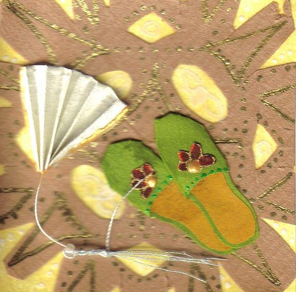 Art: Slippers & Fan by Artist Emily J White