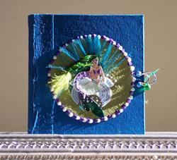 Art: Miniature Mermaid Picture Story Book by Artist Emily J White