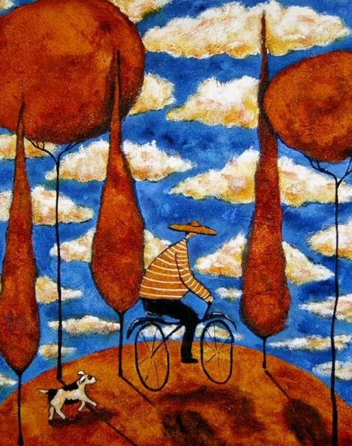 Art: Autumn Ride by Artist Debi Hubbs